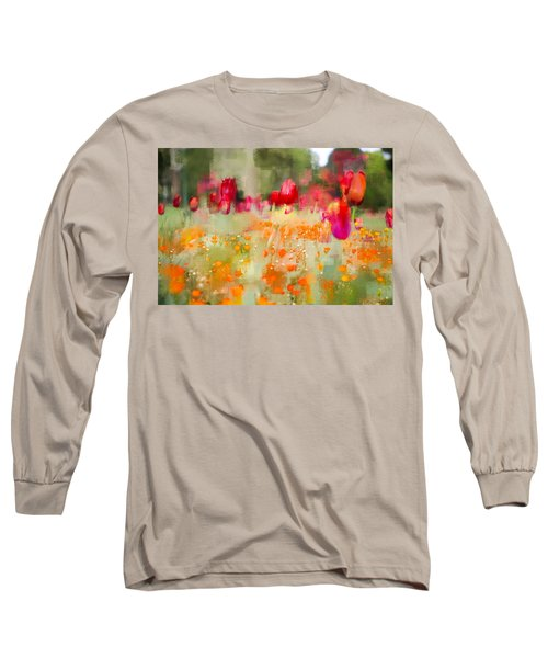 Tulips And Daisies Long Sleeve T-Shirt