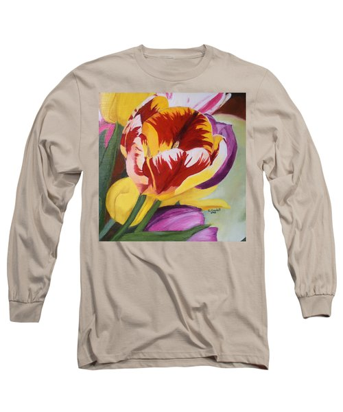 Tulips Long Sleeve T-Shirt by Claudia Goodell