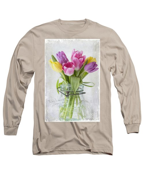 Tulips In A Jar Long Sleeve T-Shirt