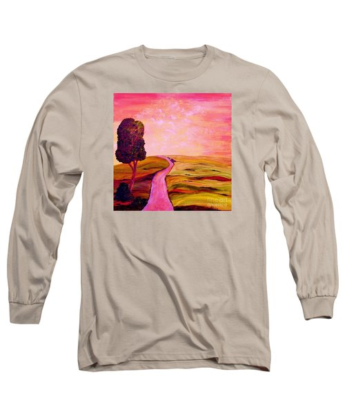 Long Sleeve T-Shirt featuring the painting Tuscan Skies ... An Impressionist View by Eloise Schneider