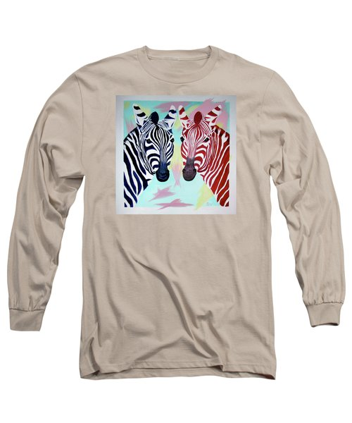 Long Sleeve T-Shirt featuring the painting Twin Zs by Phyllis Kaltenbach