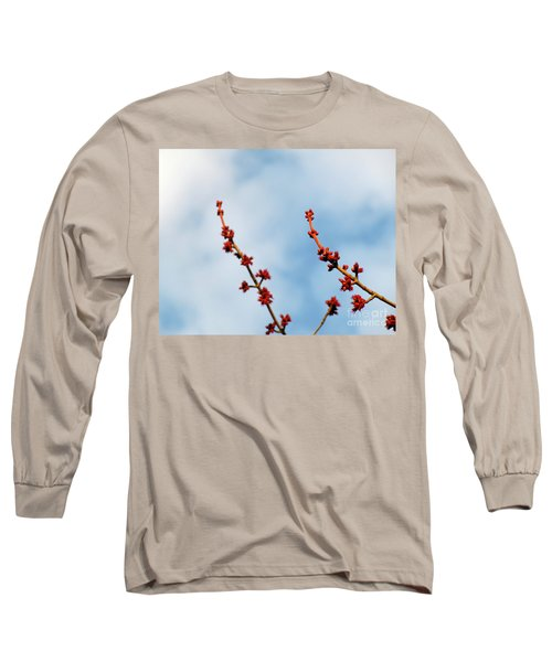 Two Budding Branches Long Sleeve T-Shirt by CML Brown