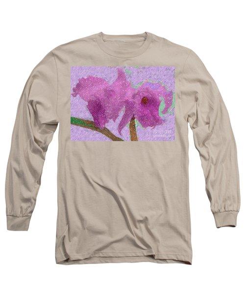 Two Hothouse Beauties Long Sleeve T-Shirt by Barbie Corbett-Newmin