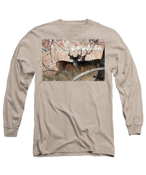 Long Sleeve T-Shirt featuring the photograph Two In The Bush by Jim Garrison
