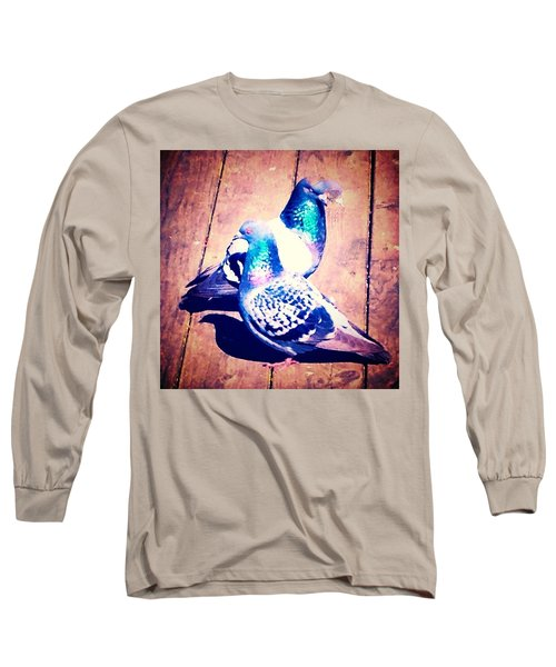 Two Pigeons And A Ghost Long Sleeve T-Shirt