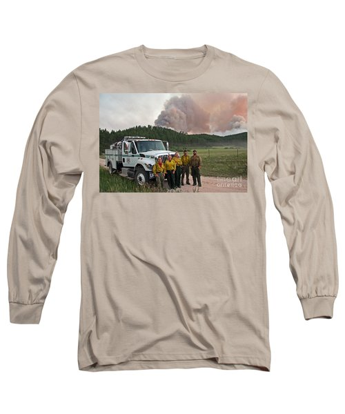 Long Sleeve T-Shirt featuring the photograph Umpqua Engine 25 On Myrtle Fire by Bill Gabbert