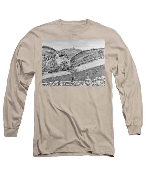 Long Sleeve T-Shirt featuring the painting Un Pomeriggio D'estate by Loredana Messina
