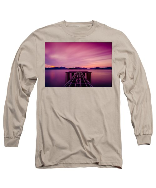 Unfinished Pier At Sunset Long Sleeve T-Shirt