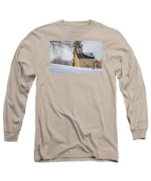 Union Cemetery Chapel Long Sleeve T-Shirt by Susan  McMenamin