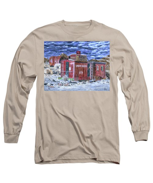 Union Pacific Train Car Painting Long Sleeve T-Shirt