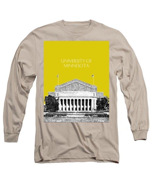 University Of Minnesota 2 - Northrop Auditorium - Mustard Yellow Long Sleeve T-Shirt