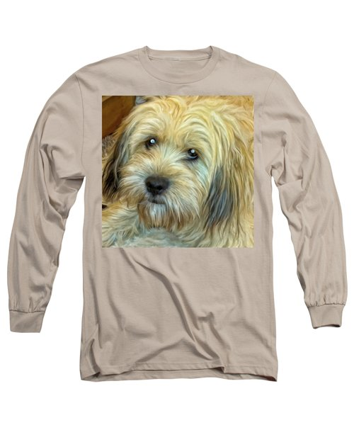 Long Sleeve T-Shirt featuring the painting Chewy by Michael Pickett
