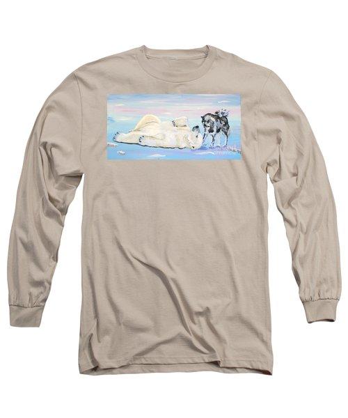 Unusual Buddies  Must Open Long Sleeve T-Shirt by Phyllis Kaltenbach
