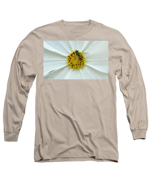 Up Close With The Bee And The Cosmo Long Sleeve T-Shirt by Verana Stark