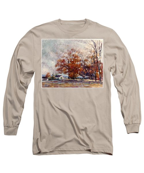 Up State Ny - Nyack Long Sleeve T-Shirt by Walter Casaravilla