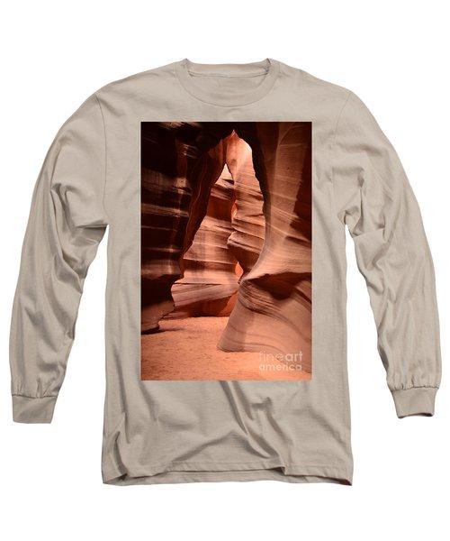 Upper Antelope Canyon In Arizona Long Sleeve T-Shirt by DejaVu Designs