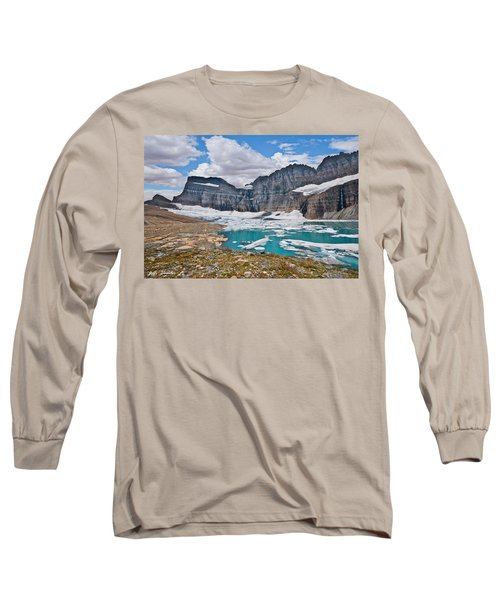 Upper Grinnell Lake And Glacier Long Sleeve T-Shirt