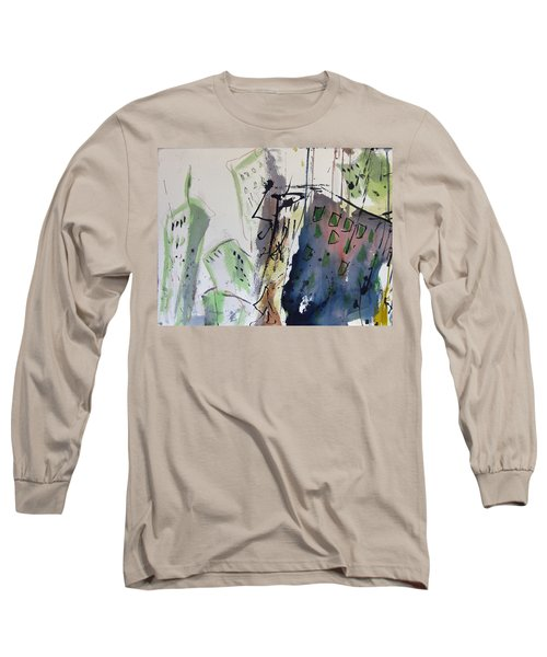 Long Sleeve T-Shirt featuring the painting Uptown by Robert Joyner