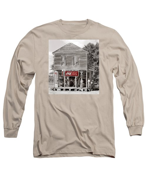 U.s. Post Office General Store Coca-cola Signs Sprott  Alabama Walker Evans Photo C.1935-2014. Long Sleeve T-Shirt by David Lee Guss