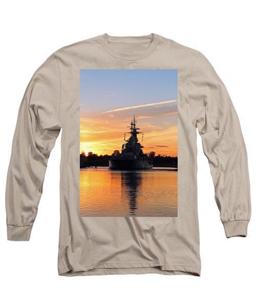 Long Sleeve T-Shirt featuring the photograph Uss Battleship by Cynthia Guinn