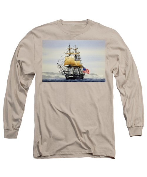 Uss Constitution Long Sleeve T-Shirt by James Williamson