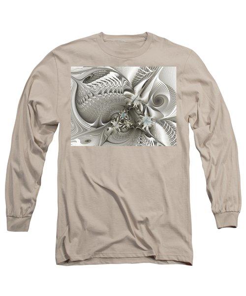 Utopia-fractal Art Long Sleeve T-Shirt by Karin Kuhlmann