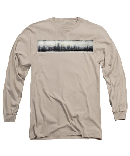 Vancouver Skyline Abstract 1 Long Sleeve T-Shirt by Peter v Quenter