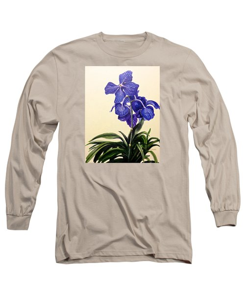 Vanda Sausai Blue Orchid Long Sleeve T-Shirt