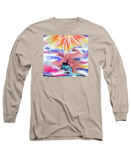 Long Sleeve T-Shirt featuring the drawing Eternal Love by Lori  Lovetere