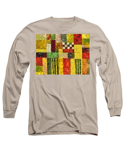 Vegetable Abstract Long Sleeve T-Shirt