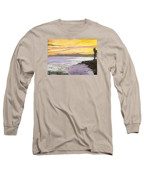 Long Sleeve T-Shirt featuring the painting Ventura Point At Sunset by Ian Donley