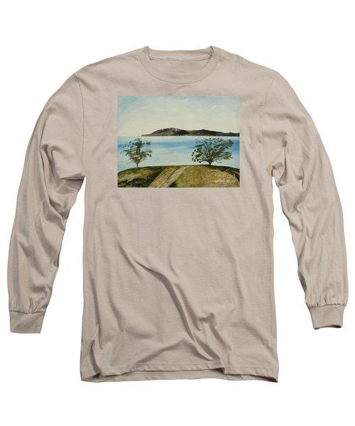 Ventura's Two Trees With Santa Cruz  Long Sleeve T-Shirt by Ian Donley