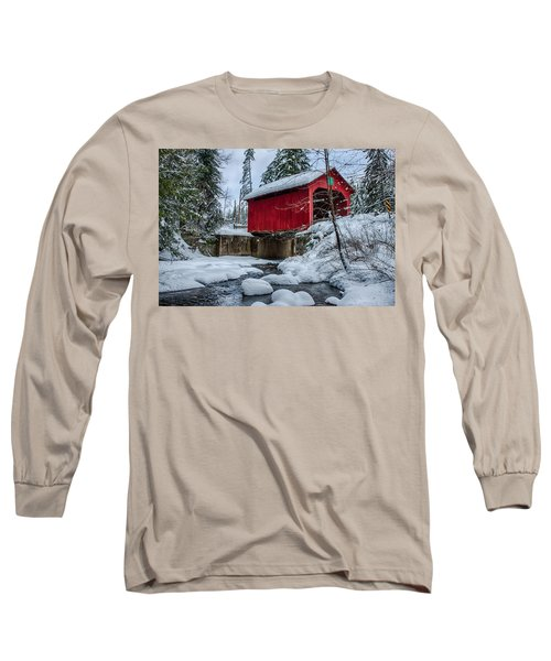 Vermonts Moseley Covered Bridge Long Sleeve T-Shirt