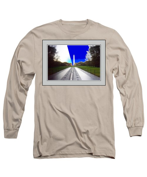 Viet Nam Memorial And Obelisk Long Sleeve T-Shirt