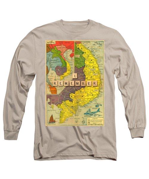 Vietnam War Map Long Sleeve T-Shirt