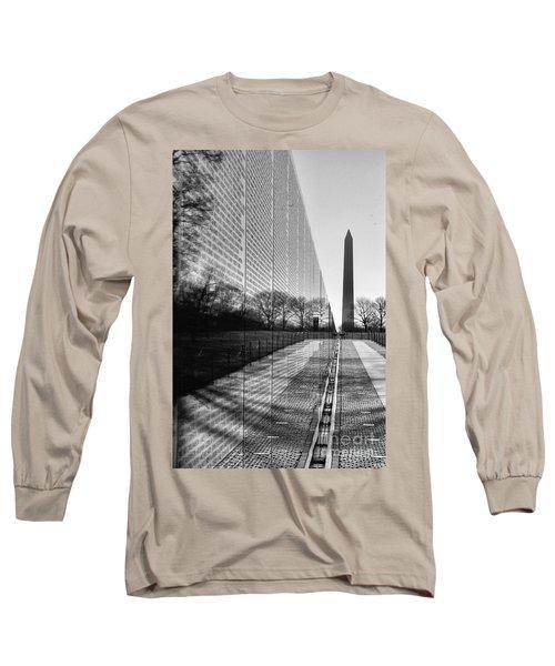 Long Sleeve T-Shirt featuring the photograph Vietnam War Memorial Washington Dc by John S