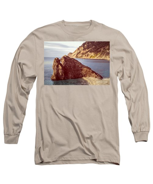 View From Beach Of Monterosso Long Sleeve T-Shirt
