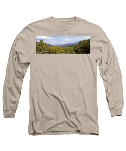 View From River Road, Great Smoky Long Sleeve T-Shirt