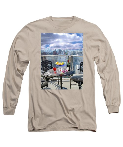 View From The Terrace Long Sleeve T-Shirt by Madeline Ellis