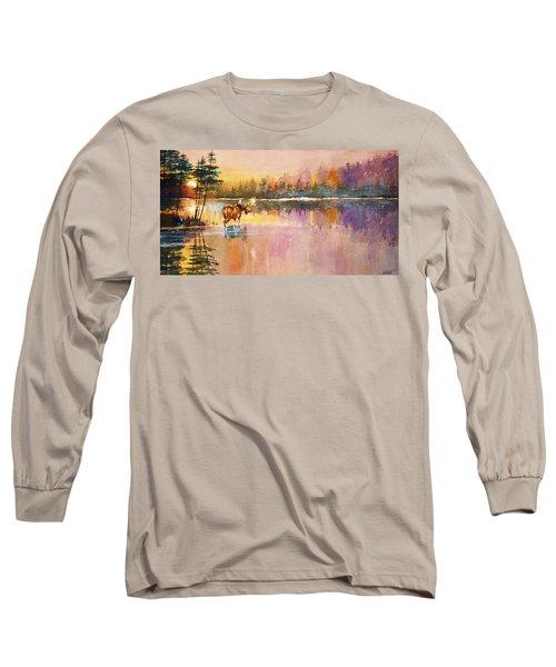 Vigil In The Shallows At Sunrise Long Sleeve T-Shirt