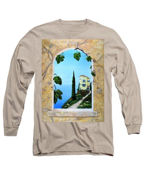 Villa By The Sea Long Sleeve T-Shirt