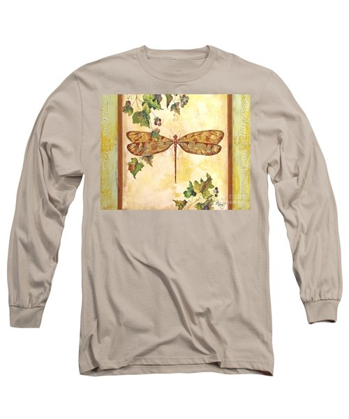 Vineyard Dragonfly Long Sleeve T-Shirt by Jean Plout