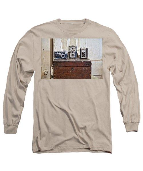 Vintage Cameras At Warehouse 54 Long Sleeve T-Shirt