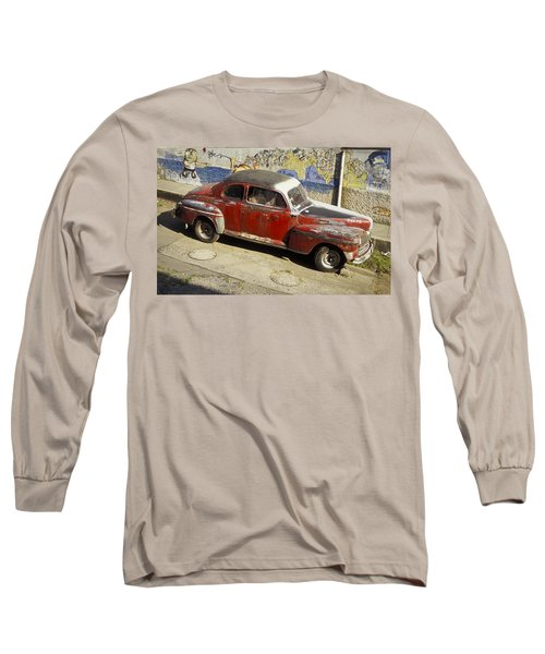 Vintage Car Long Sleeve T-Shirt by Lana Enderle