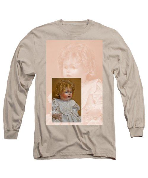 Vintage Doll Beauty Art Prints Long Sleeve T-Shirt by Valerie Garner