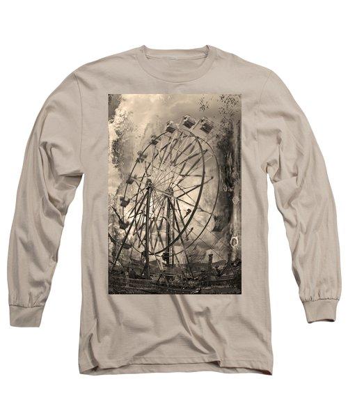 Vintage Ferris Wheel Long Sleeve T-Shirt