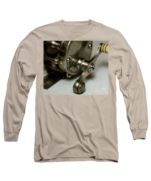 Long Sleeve T-Shirt featuring the photograph Vintage Fishing Reel  by Wilma  Birdwell
