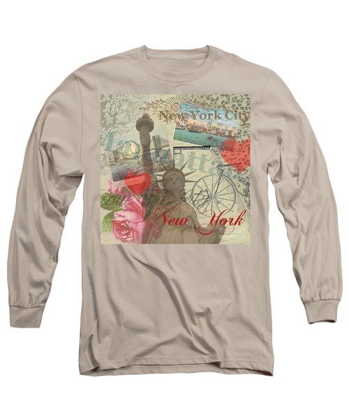 Vintage New York City Collage Long Sleeve T-Shirt