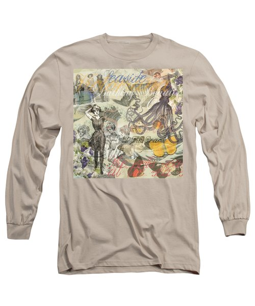 Vintage Octopus And Bathing Beauties Long Sleeve T-Shirt