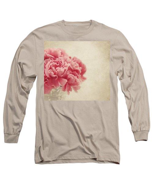 Vintage Pink Carnations Long Sleeve T-Shirt